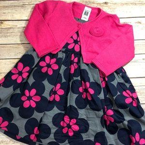 Girls 3 Piece Carters Dress Set
